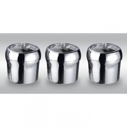 Nemox Kit 3 Chrome Plated Containers And 3 Covers For Fantasia Buffet Lux