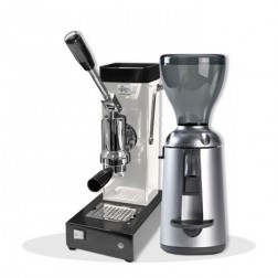 Ponte Vecchio Export White and Nuova Simonelli Grinta Chrome AMMT