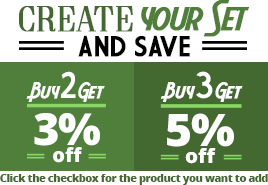 Create your set and save 5% to 10%